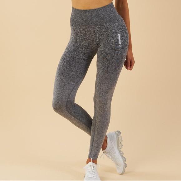 3e52015d317f3 Gymshark Pants | Ombre Seamless Leggings Blacklight Grey | Poshmark
